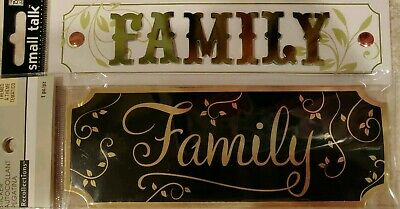 New I Love My Family title Scrapbook Sticker Recollections Me & My Big Ideas NIP