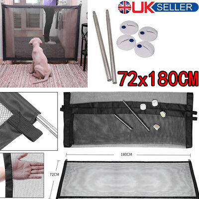 UK Dog Gate Safe  Mesh Magic Pet Guard And Install Anywhere Pet Safety Enclosure