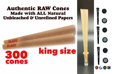 Raw Classic King Size pre Rolled Cone With Filter  (300 Packs) 100%AUTHENTIC