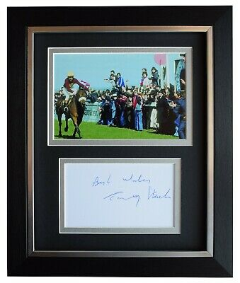 Tommy Stack Signed 10x8 Framed Autograph Photo Display Red Rum Grand National