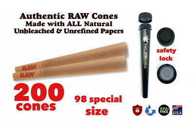 RAW Classic 98 special Size Pre-Rolled Cones (200 Pack) 100%AUTHENTIC