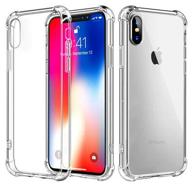 Case for iPhone XR X XS Max Bumper Shockproof Protective Soft Clear Cover