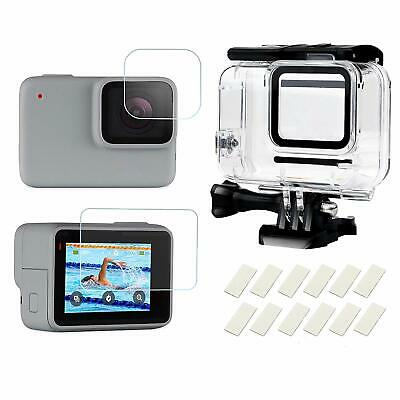 Waterproof Diving Protective Housing Shell Case for GoPro Hero 7 White Silver