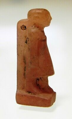 ZURQIEH -as13136-  ANCIENT EGYPT, AMATHYST  AMULET OF A MAN. 1400 - 1200 B.C