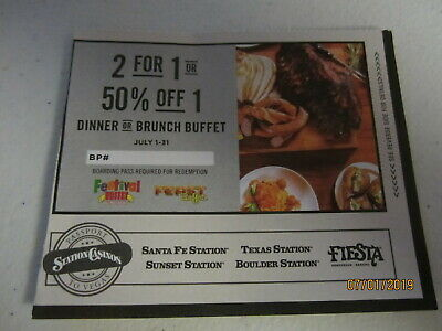 Vegas Dinner Buffet Coupon - Jul 2019 - Santa Fe Sunset Texas Boulder + More