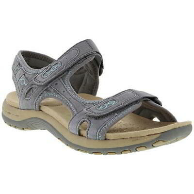 Earth Spirit Frisco Womens Ladies Grey Leather Sports Walking Sandals Size 4-8