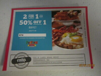 Vegas Any Buffet Coupon - Jul 2019 - Fiesta Hotel Henderson location + MORE