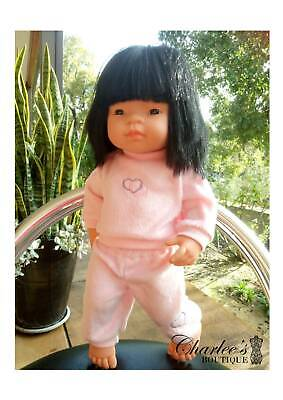 38cm Miniland doll winter clothes pink (MADE IN PERTH)