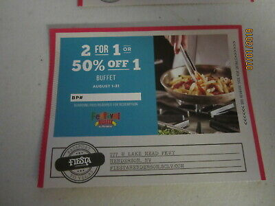 Vegas Any Buffet Coupon - Aug 2019 - Fiesta Hotel Henderson location + MORE
