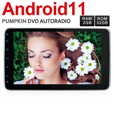 "Pumpkin 10,1"" Android 9.0 4GB+32GB Autoradio GPS Navi DAB Bluetooth USB WiFi AUX"