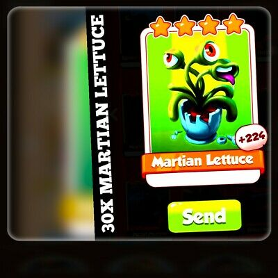 30X martian lettuce Combo:- Coin Master Cards  ( Fastest Delivery)