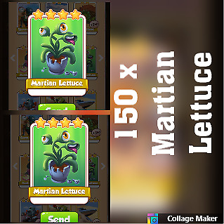 5 x Armstrong :- Coin Master Cards martian lettuce ( Fastest Delivery )