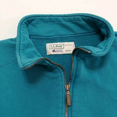 LL BEAN Russell Athletic Zip Sweatshirt Vintage 1990s Made In USA Sport Jacket