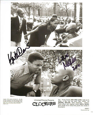 KEITH DAVID & MEKHI PHIFER - Actors - Clockers - Autograph Photo