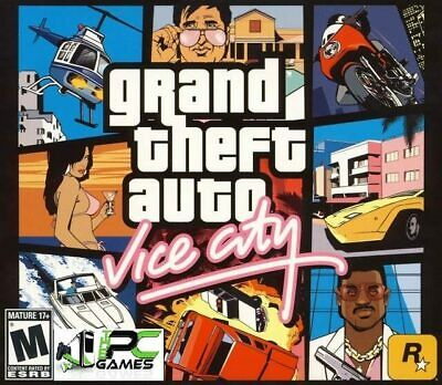 Grand Theft Auto Vice City old PC Game SOFTWARE only Action Shooter Race