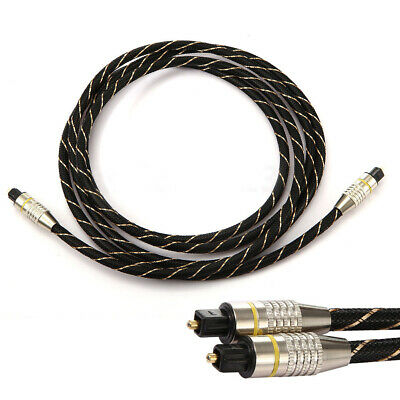 CO_ 1M/2M Toslink SPDIF Optic Fiber Digital Optical Audio Cable Cord CD DVD high