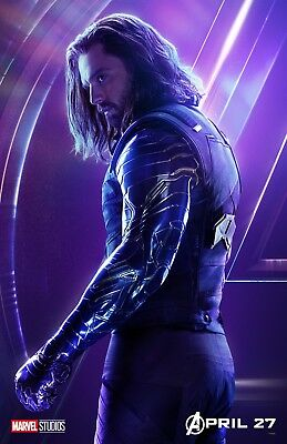 The Avengers Infinity Guerre Film Affiche (O' ) : 11 X 17 Inches - Bucky