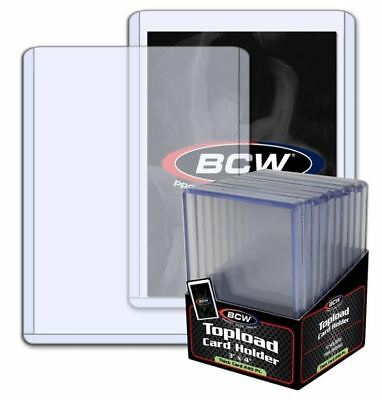 (10) BCW Super Spesso Topload Trading Card Supporti 240pt 7mm Jerseys Toppe