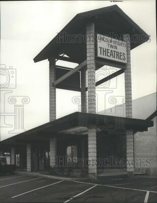 1972 Press Photo The Lincoln Heights Twin Theaters E2930 Twenty-seventh