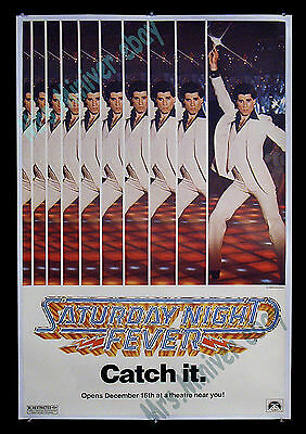 Saturday Night Fever! ☆ Extremely Rare! ☆ 1977 Nyc >> Transit 1-Sheet Advance!!