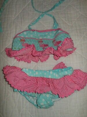 a5bec9eb683 SMOCKED A LOT Girls Swim Suit UNICORN Pink Polka Dot 1pc Monogrammed ...
