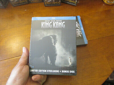 King Kong Blu Ray + Bonus Disc Steelbook Limited Edition New Factory Sealed