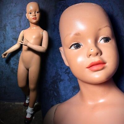 SPRITELY Vintage 50s 60s Mannequin Boy or Girl Child Kid Cute Cherub Rare