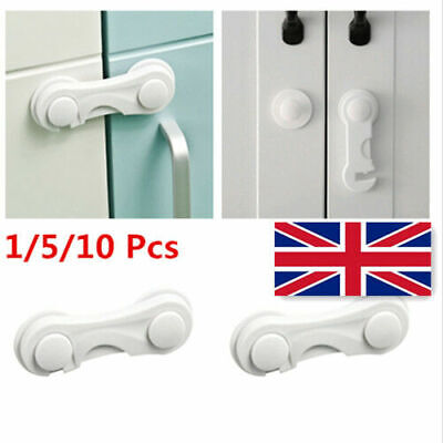 10X Child Cupboard Cabinet Safety Locks Proofing Doors Drawer Fridge Gifts Hot