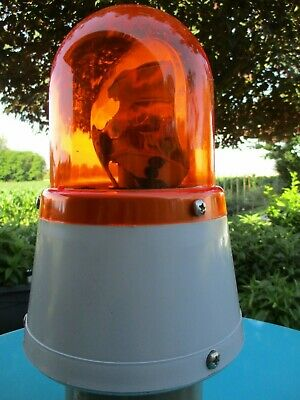 Vintage AEB 560 Beacon Light 24V Amber Ancien Gyrophare Belgium Truck Tractor !!