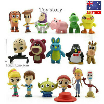 Toy Story 4 Woody Jessie Forky Ducky Bunny 17 PCS Action Figure Toys Cake Topper