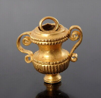 Greek Gold Miniature Amphora Pendant (M535)