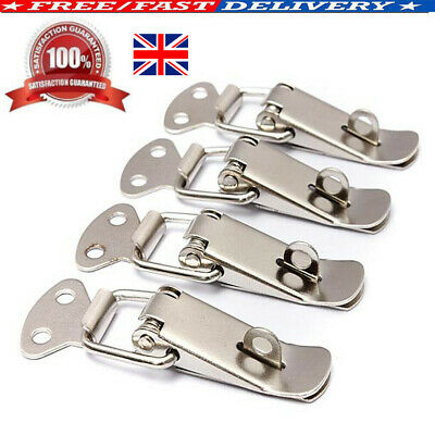 Stainless Steel Spring Loaded Lock Clasp Toggle Latch Catch  Case Box Chest 4pcs