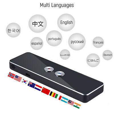 AU 2-Way Smart Portable Voice Translator Instant 30+ Multi Language Learn APP