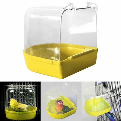 Bird Bath for Finch, Canary, Budgie IN Hooks on External cage TU