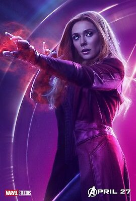 The Avengers Infinity Guerre Film Affiche:27.9x43.2cm - Scarlet Witch