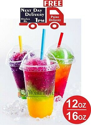 1000 Smoothie Cups with Dome Lids, Clear Plastic Cups For Smoothie 24hr delivery