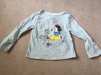 Disneystore Girls Princess Snow White Animator Sleeved Top 2 Years Perfect