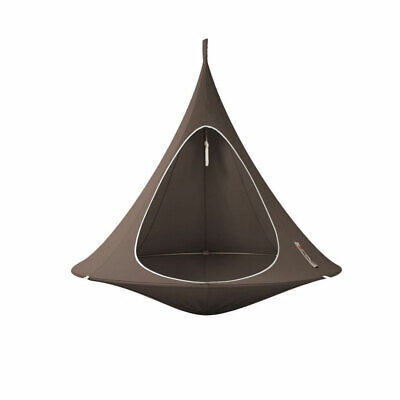 Vivere CACDT7 Sheltered Hanging Chair Polyester Cotton Blend Double, Taupe