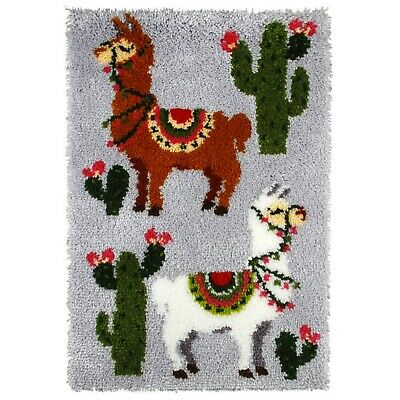 LLAMAS LATCH HOOK RUG KIT by Orchidea from UK Seller, BRAND NEW
