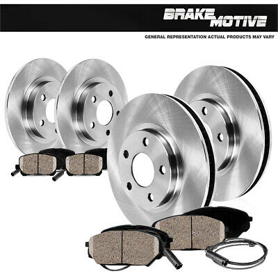 For Mercedes-Benz E55 AMG CLS55 AMG Rear  Drilled Brake Rotors+Ceramic Pads