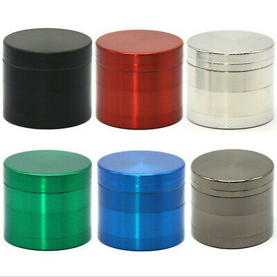 4 Part Tobacco Herb Spice Grinder Smoke Metal Alloy Chromium Muller Crusher 40mm