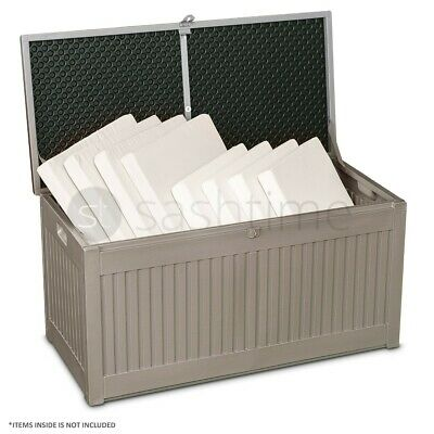 Outdoor Garden Plastic Storage Utility Chest Cushion Shed Box 190L Kids Children