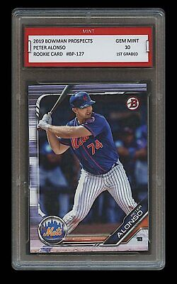 PETER ALONSO 2019 BOWMAN PROSPECTS Topps 1ST GRADED 10 ROOKIE CARD RC METS Pete