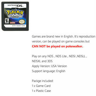 Nintendo Pokemon Platinum/Diamond/Pearl version game for 3DS NDSI DSI DS K5A0M