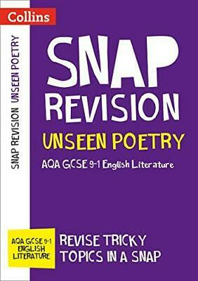Unseen Poetry: New GCSE 9-1 English Literature AQA by Collins GCSE Paperback NEW