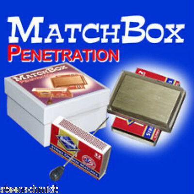 Matchbox Solid Thru Solid Impossible BRASS Penetration EXAMINABLE Magic SEE DEMO
