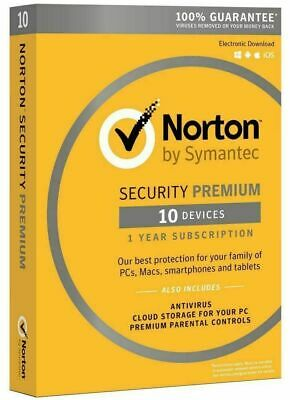Norton Security Premium - 10 Devices PC / Mac / Phone / Tablet Digital Download