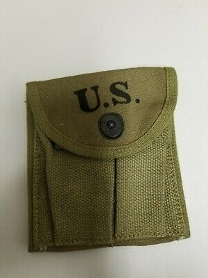 "Original Us Gi Wwii M1 Carbine Khaki Stock Pouch ""Boyt"" Dated 1943"""