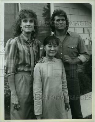 """1985 Press Photo Michael Landon and co-stars on """"Highway to Heaven"""" - spp54669"""
