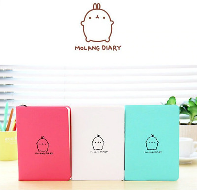 Korean Journals Stationary 3 Colors 114 Sheets Diary Soft Covers With Pen Holder